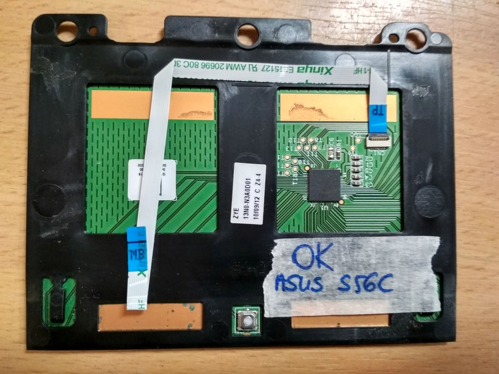 Asus K56 S55 S56 Touchpad kábellel 13N0-N3A0D01 használt 1 hó gar!