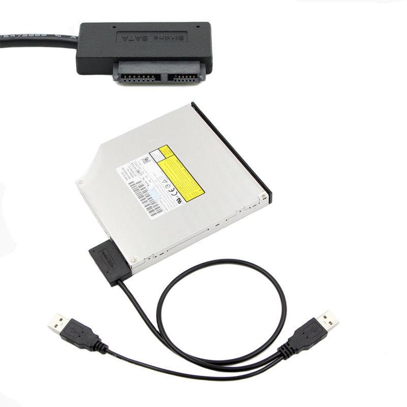 USB 2.0 -ról 7+6 13 Pin Slimline Slim SATA II Laptop CD/DVD meghajtó Adapter Cable 1 év gar!