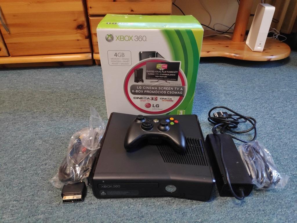 Xbox 360 slim. 320GB használt 1 hónap garancia