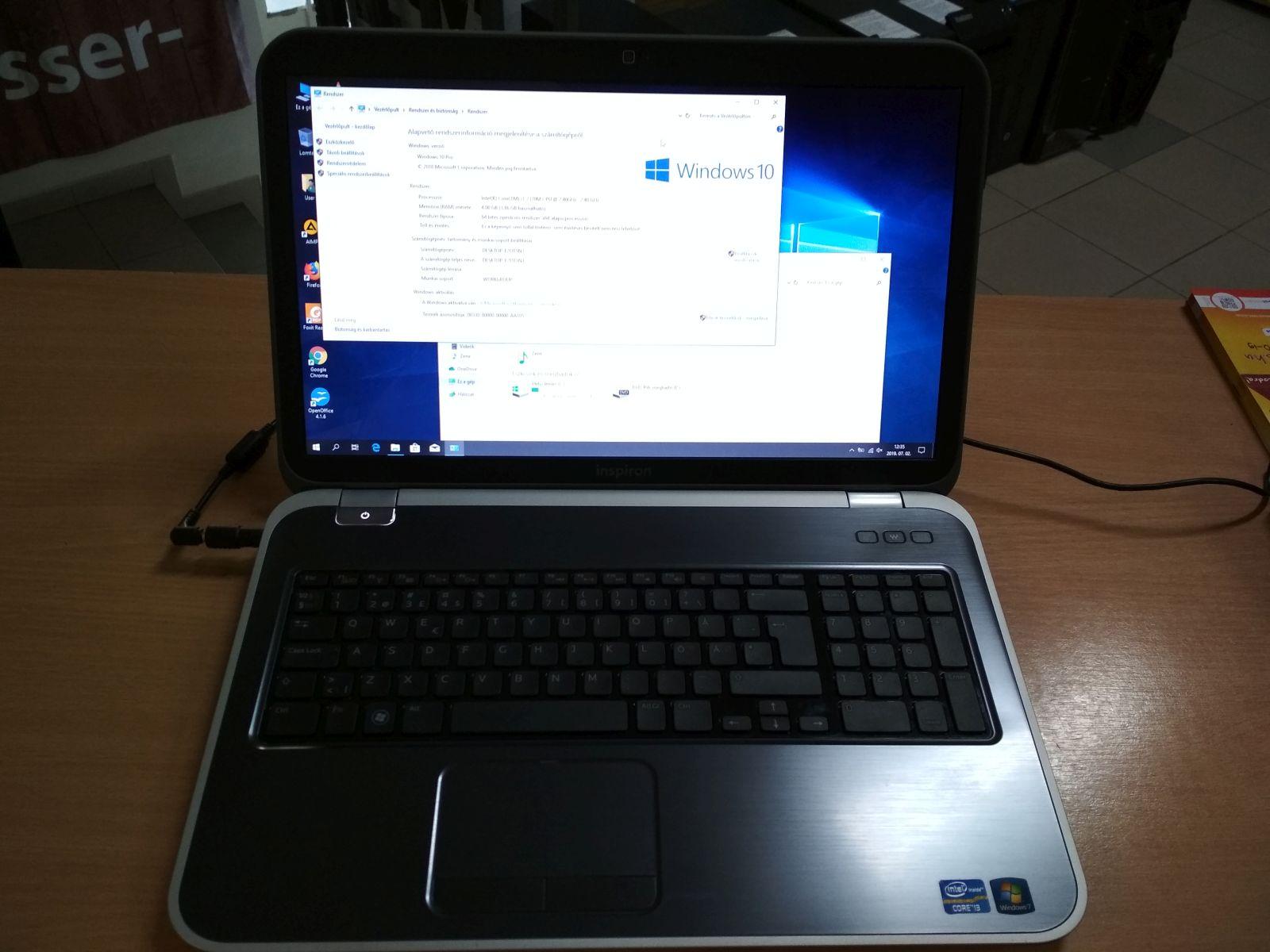 Dell Inspiron 17R 5720 17,3 i3 / 4GB / 320GB HDD használt laptop 3 hó gar!
