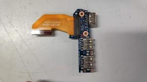 HP 840 G1 USB Dsub board+kábel. Használt.  6050A2559201-USB-A02