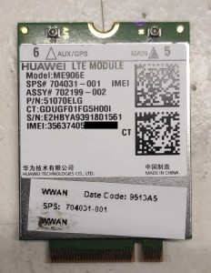 Huawei ME906E GPS LTE/HSPA+ 4G modem.  704031-001
