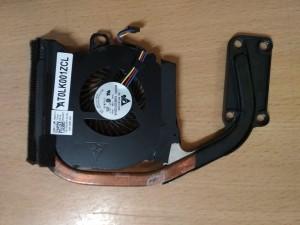 Dell Latitude E6330 ventilátor 09VGM7 és hőcső AT0LK001ZCL használt