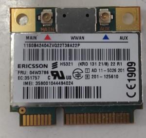Lenovo Thinkpad L430 L530 T430 H5321 3G modem kártya 04W3786 H5321GW