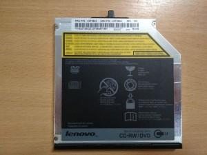 Lenovo T400 T500 W500 W700 42T2543 42T2542 CDRW DVD SATA Ultrabay Slim ODD Optika használt 1 hónap garancia!