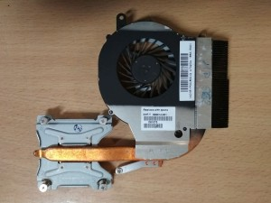 HP G62 G72 CQ62 CQ72 sorozathoz 606013-001 606014-001 ventilátor és hőcső 3 pin használt