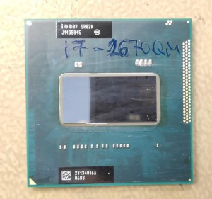 Core i7-2670QM notebook processzor. SR02N