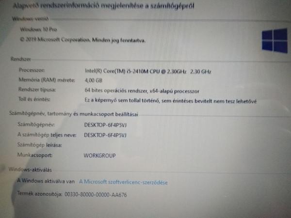 Lenovo ThinkPad Edge E520 15,6 i5 / 4GB / 160GB HDD AMD Radeon HD 6630M használt laptop 3 hó gar!