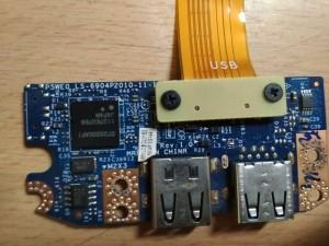 Packard Bell Easynote TS11 TS13 TS45 Acer 5750 USB panel LS-6904P használt 1 hónap garancia!