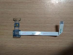 Toshiba Satellite C660 C665 C665 C665D bekapcsoló gomb LS-6841P használt 1 hónap garancia!