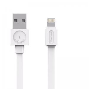 Allocacoc USB -> Lightning Basic lapos szilikon kábel White 1,5m 10451WT/LGHTBC
