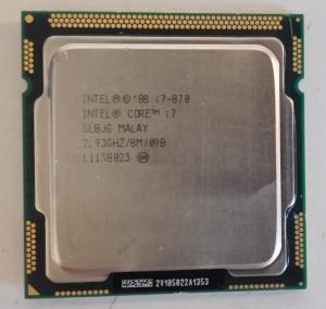 Intel Core i7 870 4 mag 8 szál LGA 1156 processzor SLBJG használt 1 hó gar!