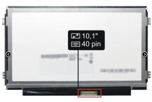 AU optronics B101AW06 10.1 LCD kijelző. Használt termék.
