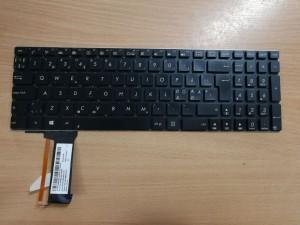 Asus N750 N750JK N750JV Q550 N550 N56 Nordic laptop billentyűzet 0KNB0-6126HU00, 0KN0-M31HU23, 9Z.N8BSU.30Q használt 1 hó gar!