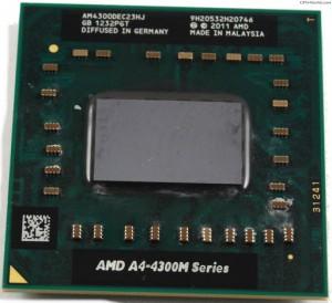 AMD A4-4300M notebook processzor. Használt termék.  AM4300DEC23HJ