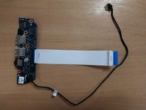 HP Envy 15j 15-j000 15-j100 Sorozathoz USB LAN Audió panel 6050A2548501-USB-A03 használt 1 hó gar!