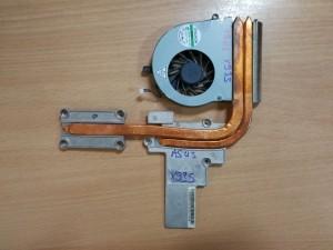 Asus X93S X93SV hőcső AT0JO0010X0 ventilátor DC28000AAS0 használt 1 hó gar!