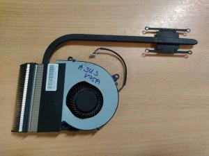 Asus X75A F75A sorozathoz hőcső ventilátor 13GNDO1AM010-1 3CXJ4TMJN00 használt 1 hó gar!