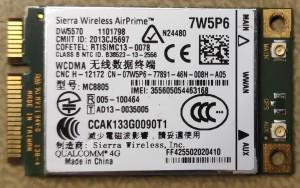DELL Latitude E7440 4G WWAN Card DW5570 7W5P6 Sierra 4G HSDPA 1 hó gar!