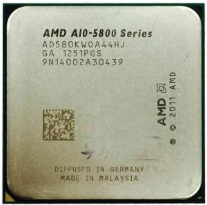 AMD A10-5800K 4mag 3.8GHz FM2 Processzor AD580KWOA44HJ használt 3 hó gar!