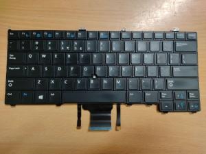 Dell Latitude E7240, E7440 US angol LED háttér-világításos billentyűzet, 04W6PV használt 1 hó gar!