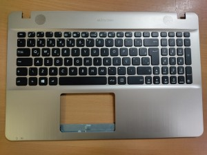 Asus X541U X541NA gyári palmrest UK billentyűzettel. 11883222-00 13NB0CG1AP1321 használt termék