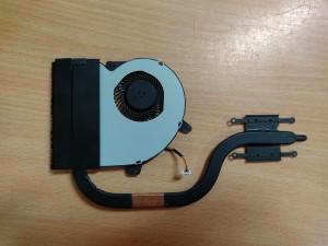 Asus X501A sorozathoz hőcső 13GNNO1AM010 4EXJ5HSJN20 ventilátor 13GNNO10P010-1 DQ5D587E001 használt 1 hó gar!