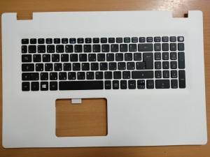 Acer Aspire E5-772, E5-772G 17.3 Fehér Palmrest magyar billentyűzettel gyári új 6B.MVFN1.014 1 év gar!