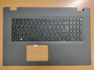 Acer Aspire E5-772, E5-772G 17.3 Szürke Palmrest magyar billentyűzettel gyári új 6B.MV9N1.014 1 év gar!
