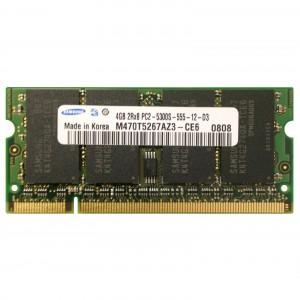 Samsung 4GB PC2-5300 DDR2 667MHz non-ECC DDR2 notebook memória használt M470T5267AZ3-CE6 3 hó gar!
