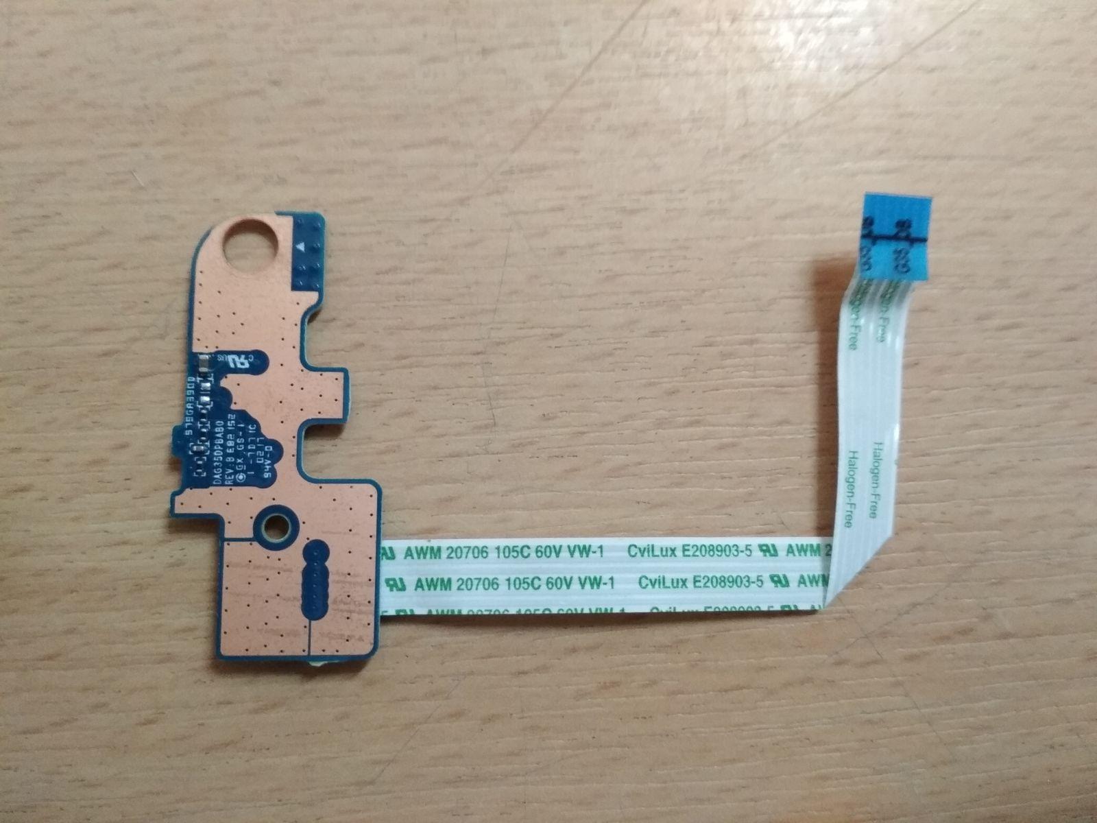 HP Pavilion 15-bc Omen 15-ax sorozathoz bekapcsoló gomb DAG35APB8B0 DAG35DPBAB0 használt 1 hónap garancia!