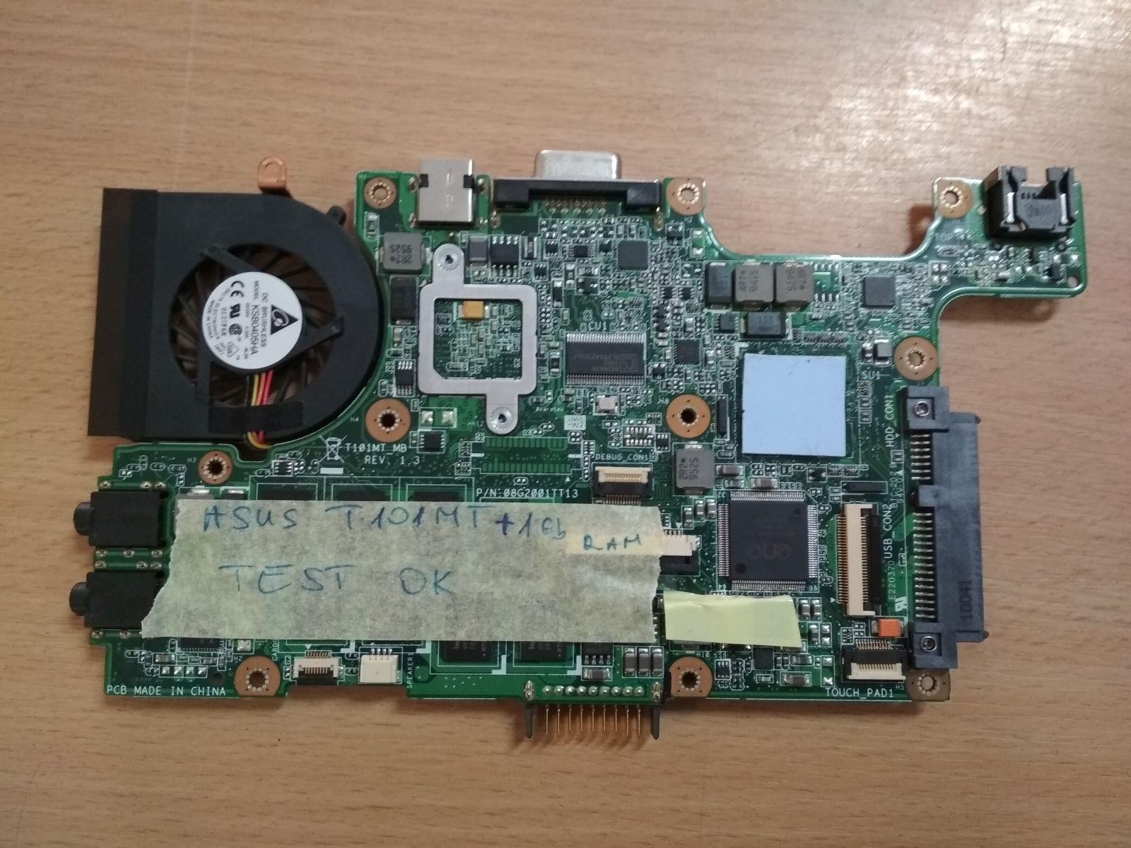 Asus EEE PC T101MT 08G2001TT13 60-OA1QMB1000 Laptop Alaplap használt 1 hó gar!
