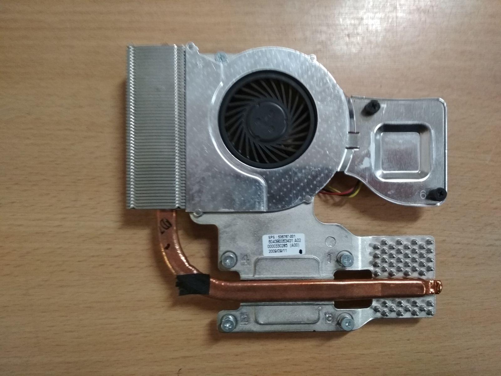 HP Probook 4510S 4710S ventilátor 535766-001 és hőcső 6043B0063401 535767-001 használt 1 hónap gar!