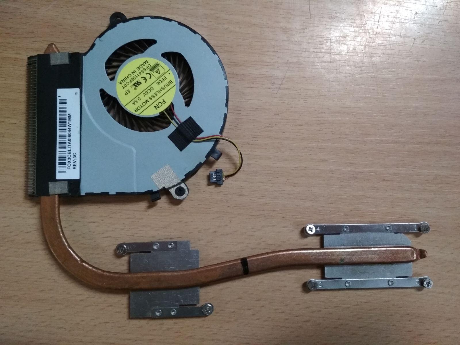 Toshiba Satellite L50 L50B L50-B L50-B-1P1 ventilátor + hőcső  DFS541105FC0T  1 hónap gar!