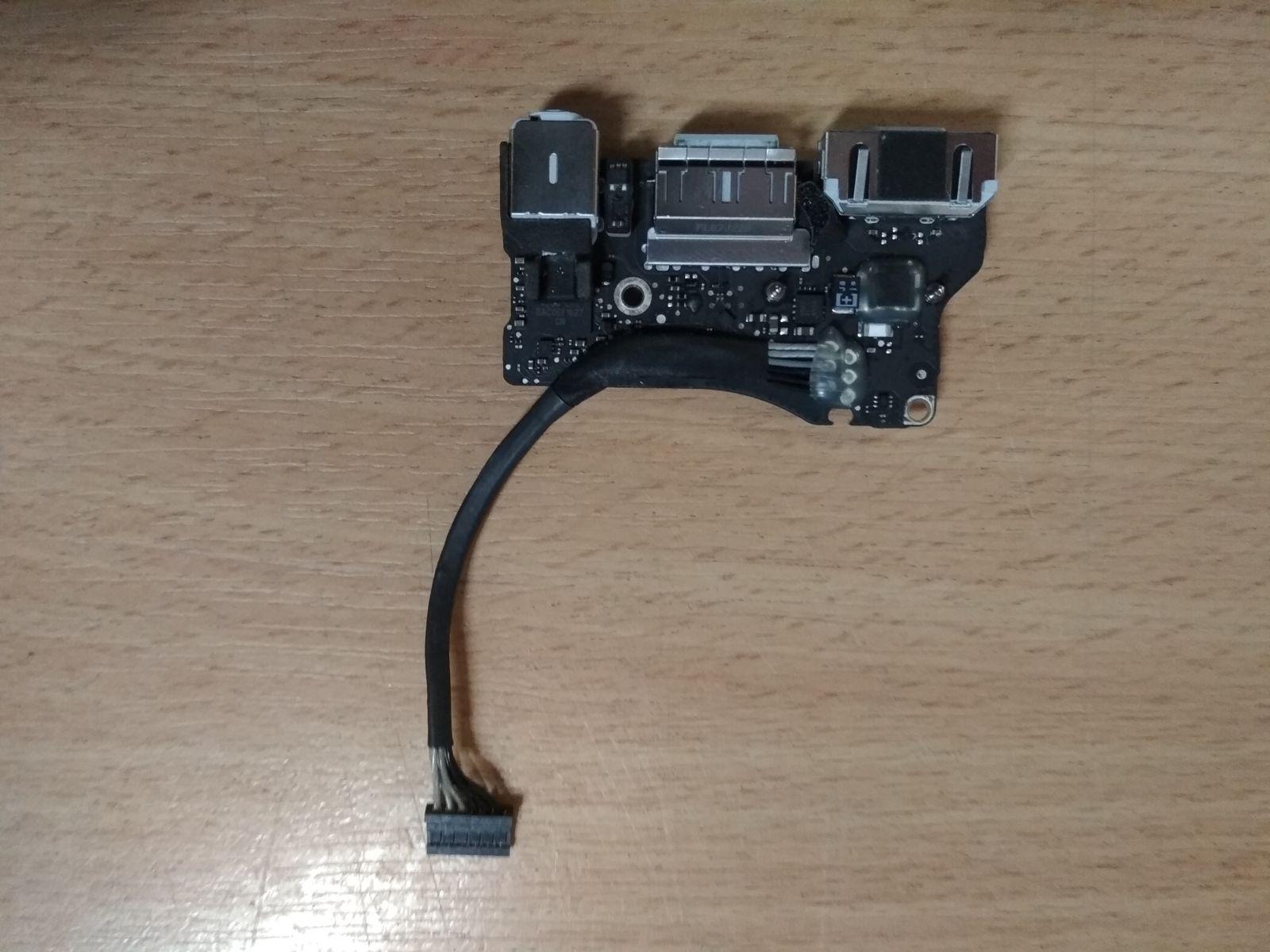 Apple Macbook air 13 A1466 2013 2014 2015 power DC jack board 820-3455-A használt 1 hónap garancia!