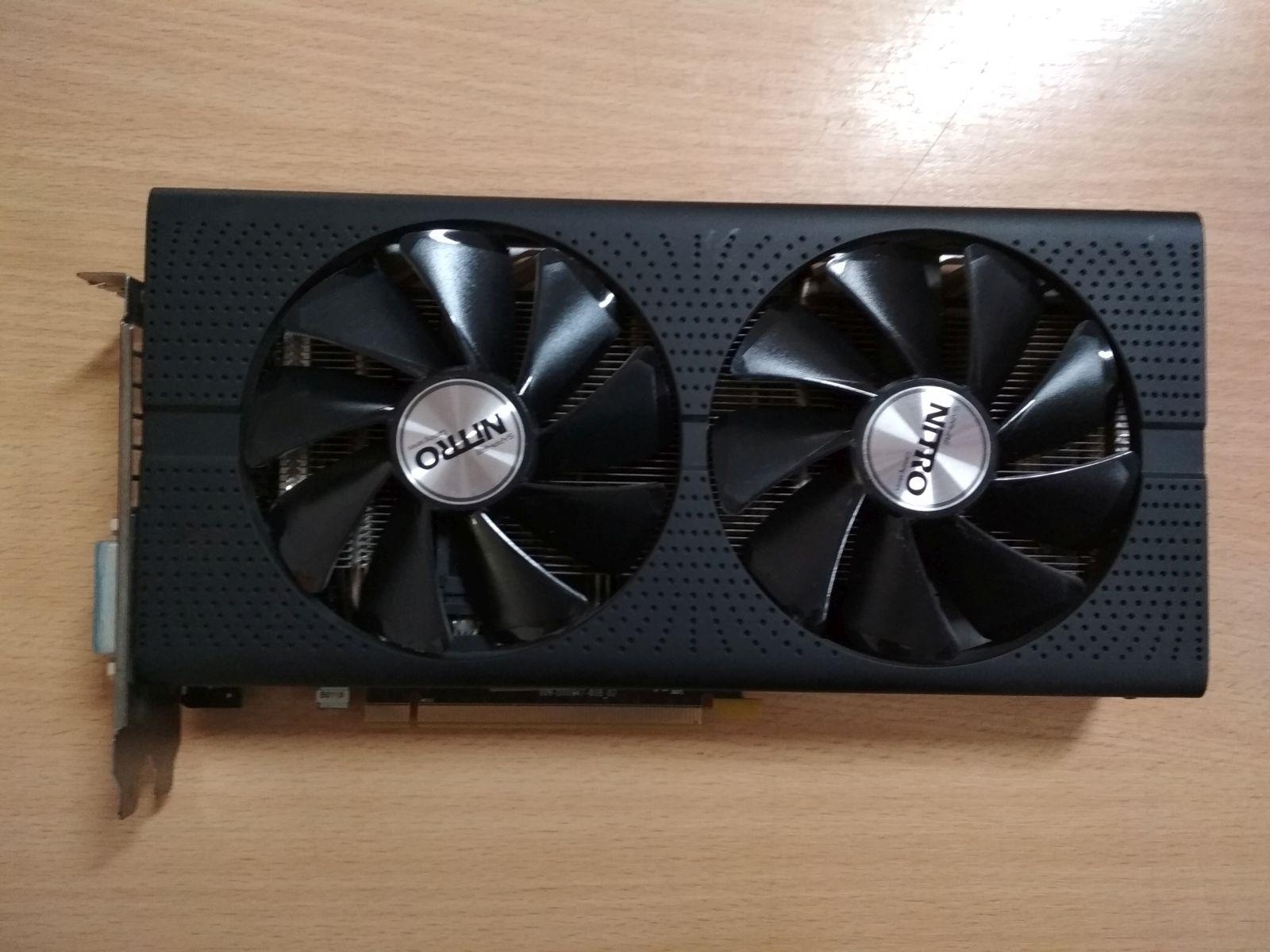 SAPPHIRE Radeon RX 480 NITRO+ 8GB GDDR5 256bit PCIe (11260-07-20G) Videokártya használt 1 hó gar!
