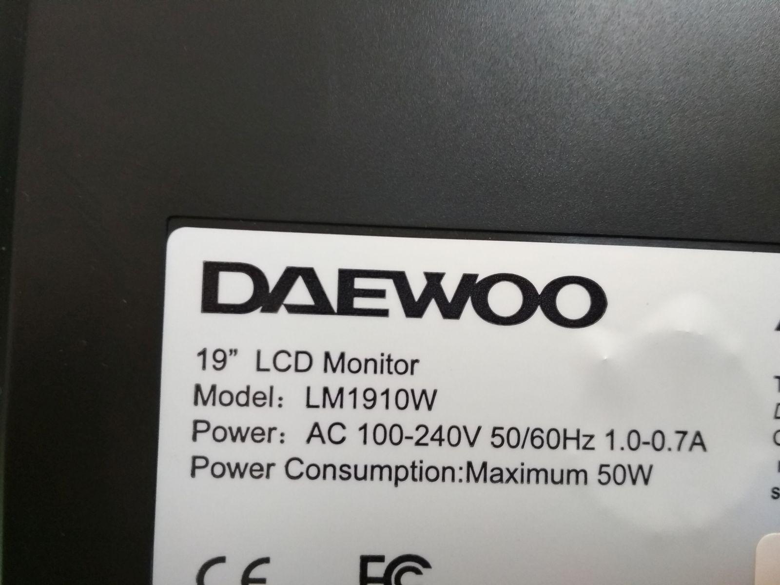 19 Daewoo LM1910W TFT monitor használt 1 hó gar!