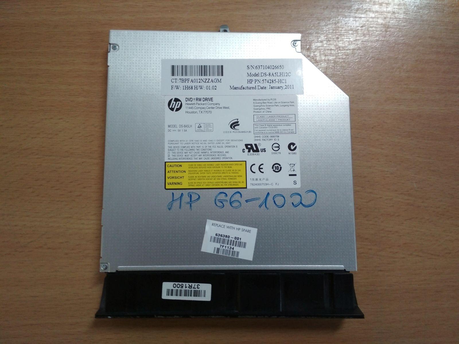 HP Pavilion G6 1000 G6 1100 sorozathoz ODD 636380-001 használt 1 hónap garancia!