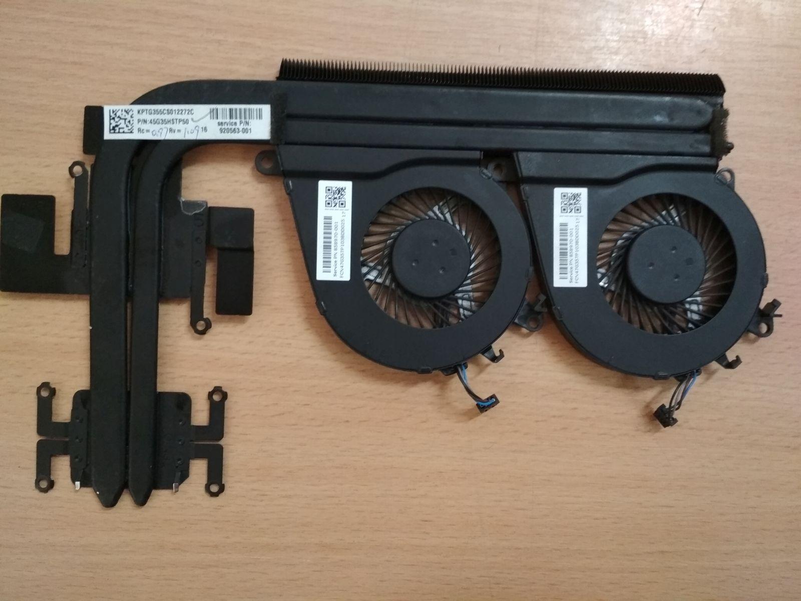 HP Pavilion 15-bc Omen 15-ax sorozathoz venti 858970-001 és hőcső 920563-001 használt 1 hónap garancia!
