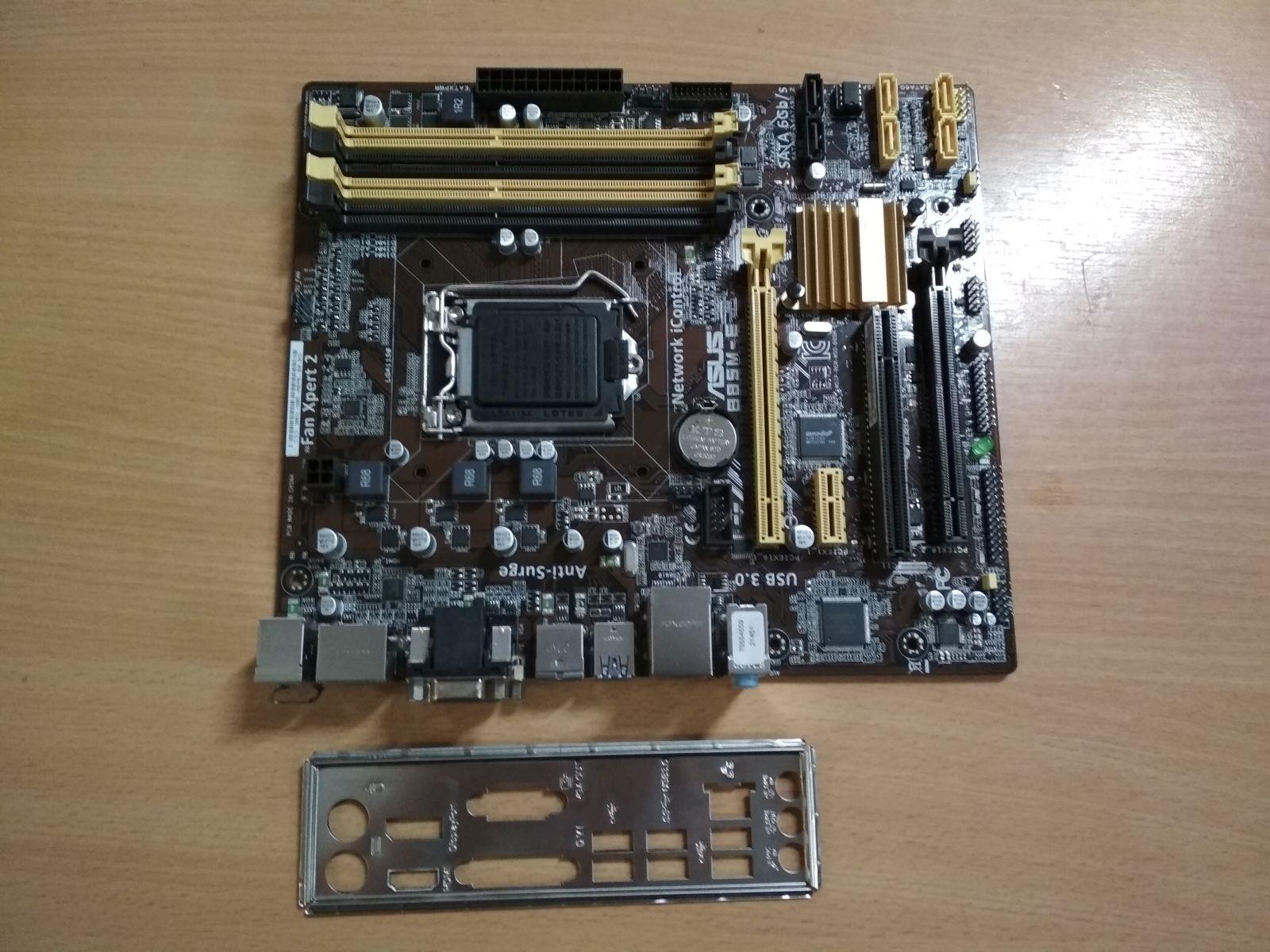 ASUS B85M-E LGA1150 Alaplap használt 3 hó gar!