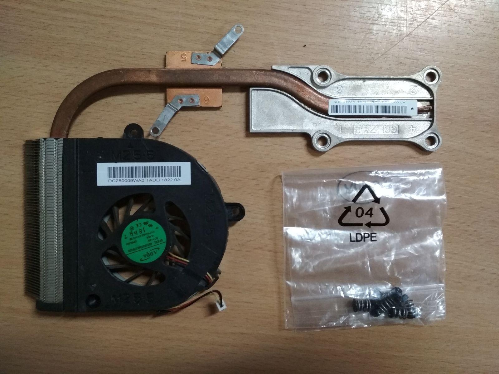 ASUS A53 X53 K53 ventilátor és hőcső AT0J00010C0 DC280009WA0 használt 1 hónap gar!