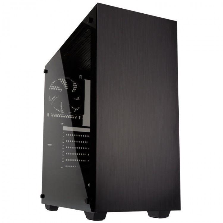 Kolink Stronghold edzett üveges számítógépház  Fekete B kategória  1 év gar!