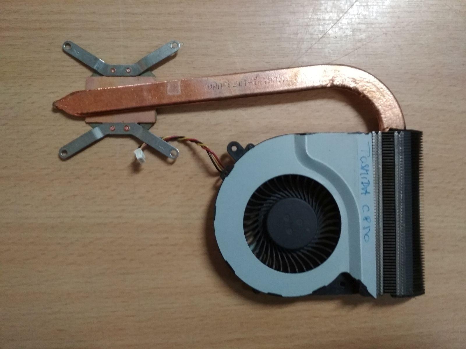 Toshiba Satellite C870 L870 C875 L875D ventilátor és hőcső 13N0-ZWA0G02 H000050260 használt 1 hónap gar!