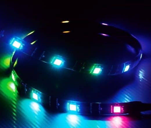 LED Szalag Akasa Vegas MBA 60cm RGB Mégneses (Aura/Mystic Light)