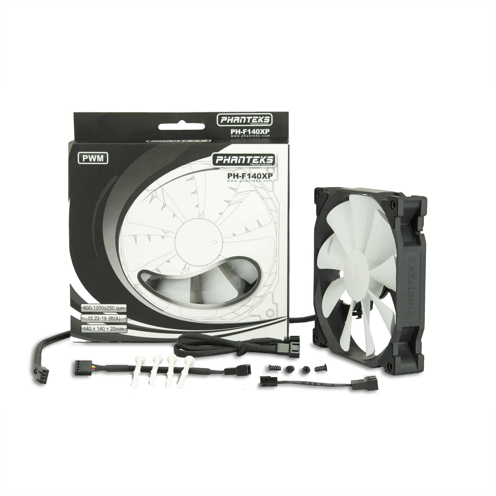 Ventilátor PHANTEKS PH-F140XP 14cm PWM Fekete/Fehér (PH-F140XP_BK)