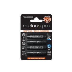 Akkumulátor Panasonic Eneloop 2500mAh 4db-os (AA) (BK3HCDE-4BE)