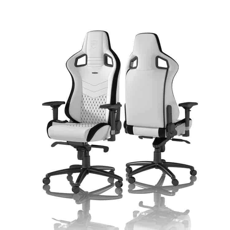 Gamer szék noblechairs EPIC PU Bőr Fehér/Fekete (NBL-PU-WHT-001)
