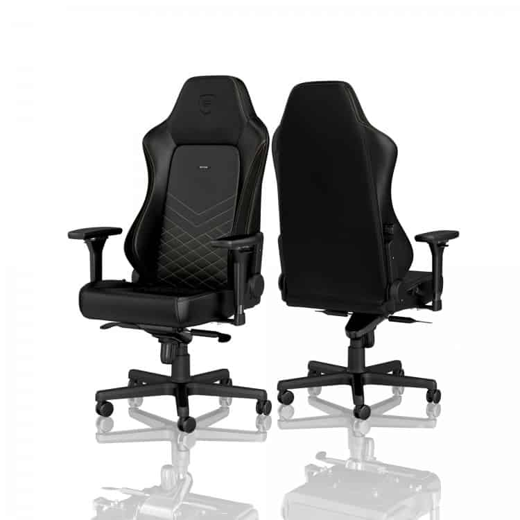 Gamer szék noblechairs HERO PU Bőr Fekete/Arany (NBL-HRO-PU-GOL)