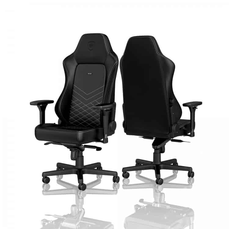 Gamer szék noblechairs HERO PU Bőr Fekete/Platinafehér (NBL-HRO-PU-BPW)