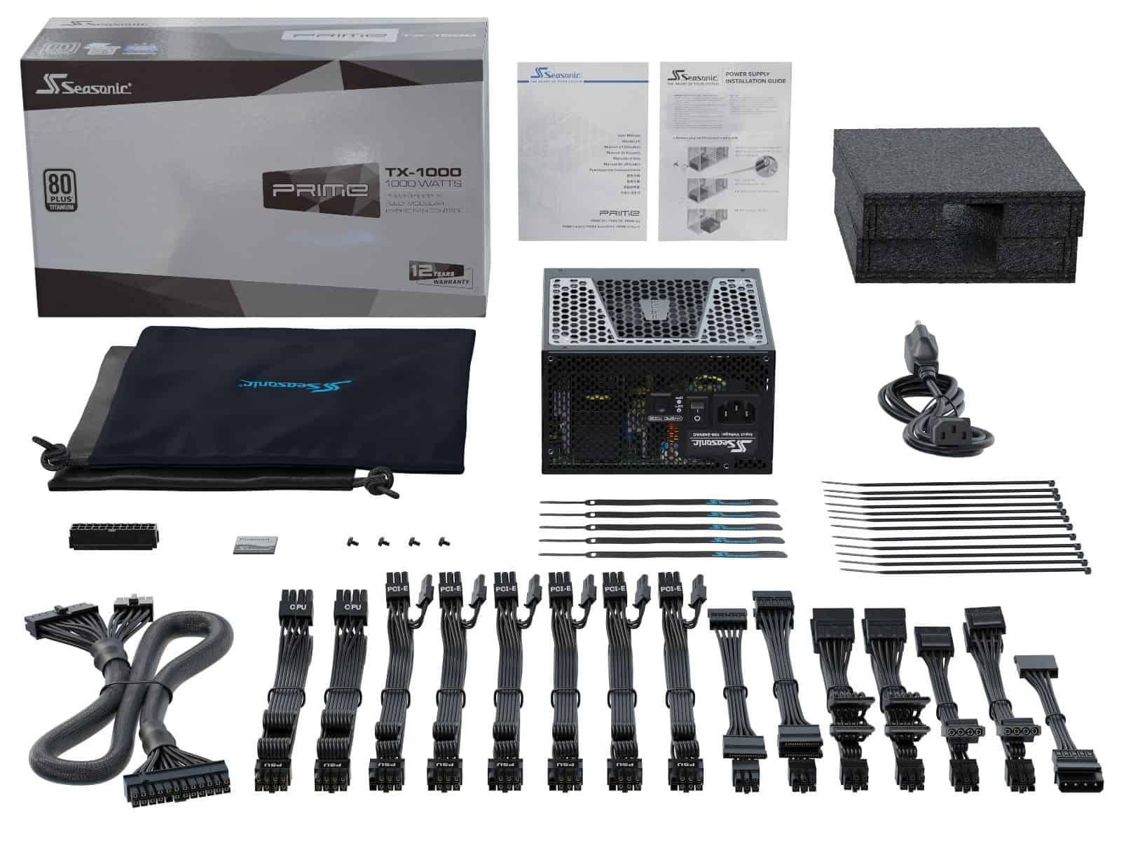 Tápegység Seasonic Prime TX-1000 1000W 14cm ATX BOX 80+ Titanium Moduláris (Prime TX-1000)
